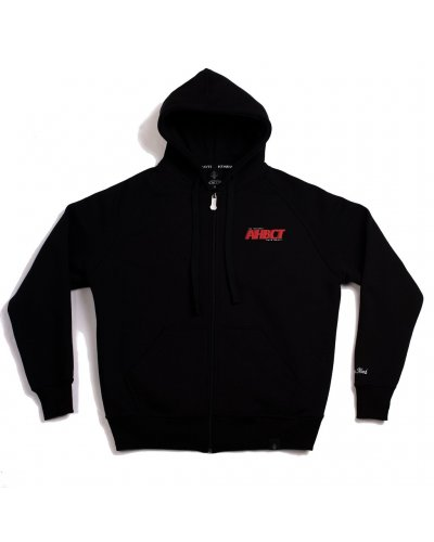 """A.H.B. BLACK EMBROIDERED """"AHBCT"""" ZIP HOODIE"""