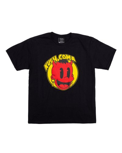 KUSH COMA Happy Demon Black Tshirt