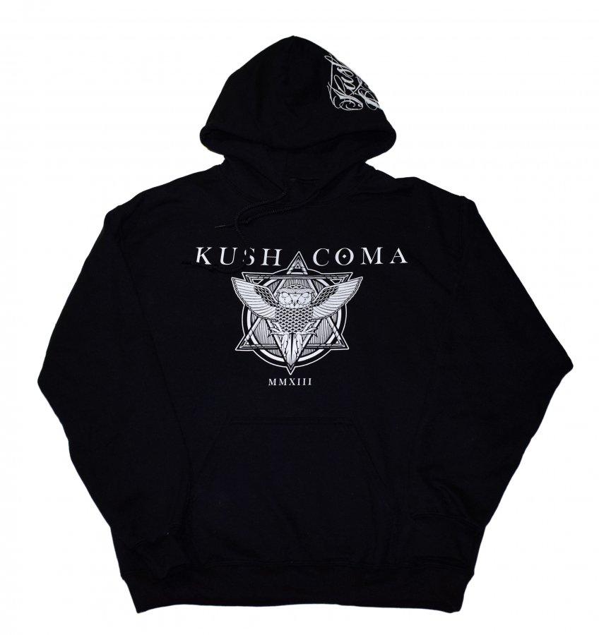 KUSH COMA OWL HOODIE BLACK