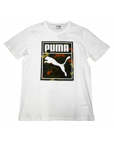 PUMA CLASSIC GRAPHIC LOGO WHITE
