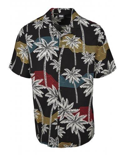 URBAN CLASSICS Palm Tree Resort Shirt
